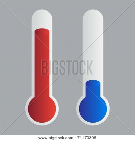 Thermometer flat design