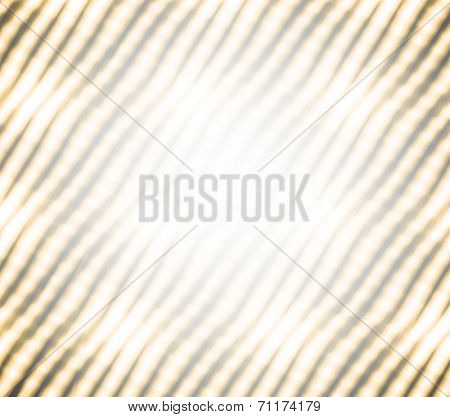 Abstract illustration background texture of perspective view to beauty decoration modern frame from Christmas light colorful blur garlands with white black and golden yellow curve tilt lines on party