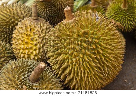 Durian Fruits Background