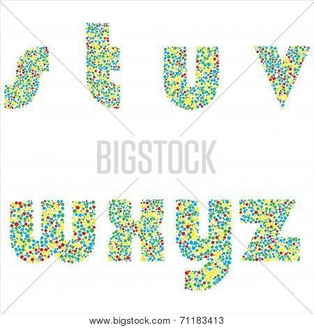 Vector illustration of  letters