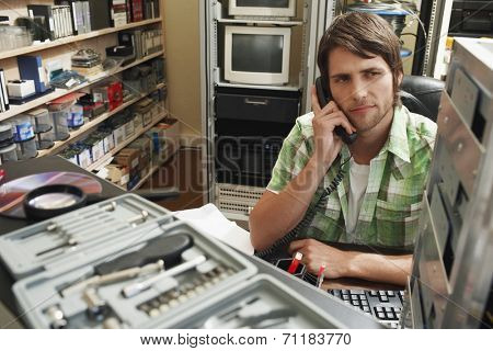 Man on Telephone