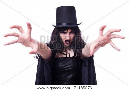 Satan halloween concept isolated on white