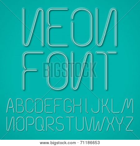 Blue Neon Letters