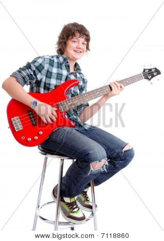 Boy With Red Guitar