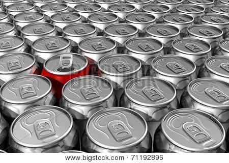 Red Soda Can Standing Out