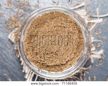 Caraway Powder In A Bowl