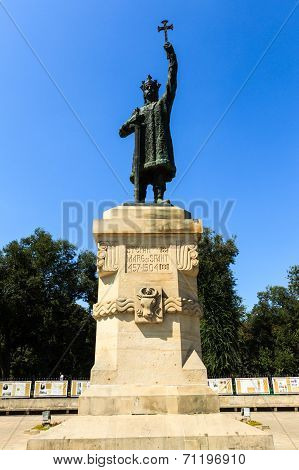 Monument Of Stefan Cel Mare Si Sfant (stefan The Great And Holy) In Center Of Chisinau, Moldova. Ste
