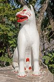 foto of thong  - Cat at the entrance to Wat Xieng Thong temple in Luang Prabang  - JPG