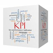 image of indications  - KPI 3D cube Word Cloud Concept with great terms such as key performance indicators and more - JPG