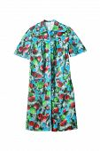 pic of housecoat  - Multicolor bathrobe with short sleeves isolated over white - JPG