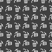 picture of dust-bin  - Trash bin web icon - JPG