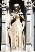 stock photo of fleet  - Mary Queen of Scots statue completed in 1905, which stands in Fleet Street London, England, UK.