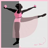 picture of skinny fat  - Silhouette of two women fat and skinny - JPG