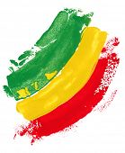 stock photo of reggae  - reggae colors - JPG