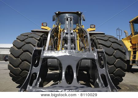 truck, forklift at close-ups