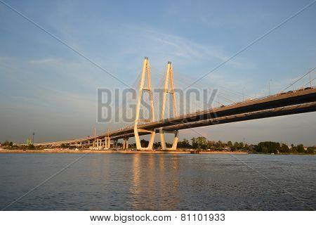 Cable-braced Bridge In St.petersburg.
