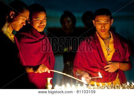 Tibetan Monks, Nepal
