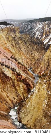 Grand Canyon Of Yellowstone National Park Landscape
