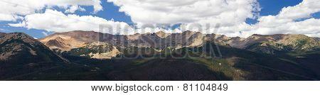Panoramic Mountain Landscape In Colorado