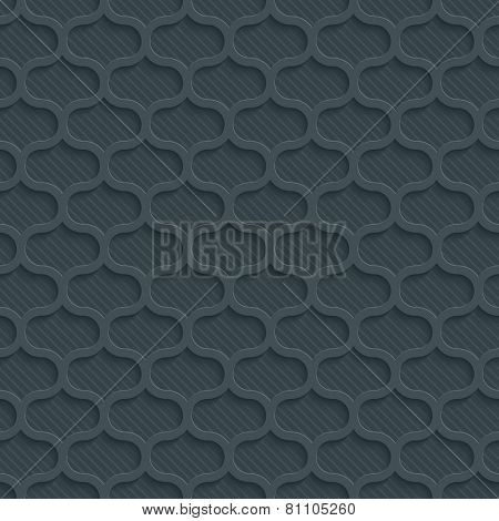 Dark gray perforated paper with cut out effect. Vector EPS10. See others in My Perforated Paper Set.