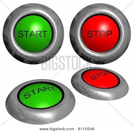 Arranque y parada de botones
