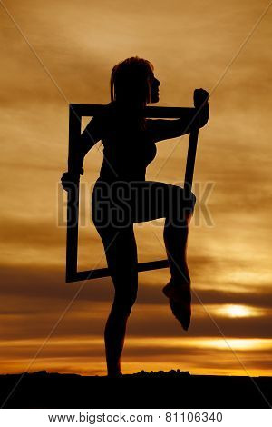Sillhouette Woman Body In Frame