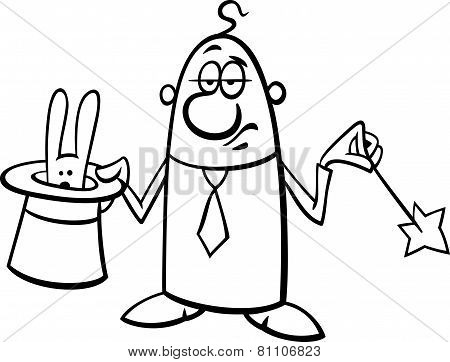 Magician Businessman Cartoon