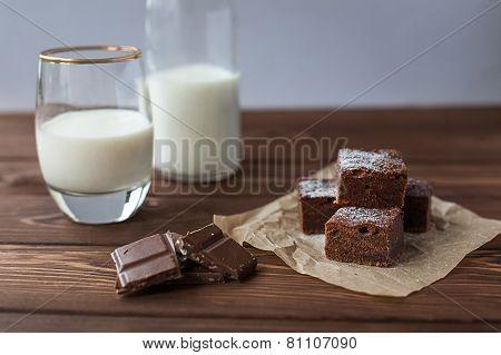 Chocolate Brownie With Milk