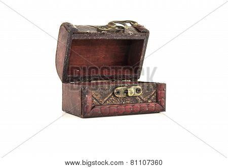 Isolated Empty Treasure Chest