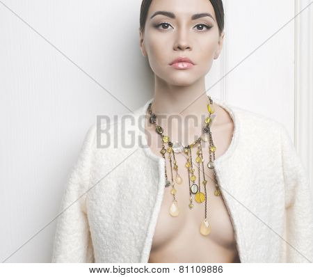 Elegant Lady In Necklace