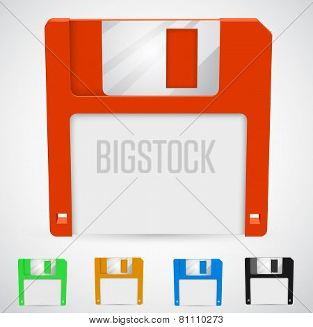 Vector illustration of a floppy disk