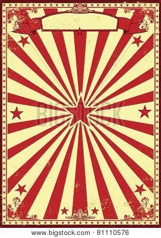 Red and cream retro sunbeams background. A vintage and retro backgound for your entertainment