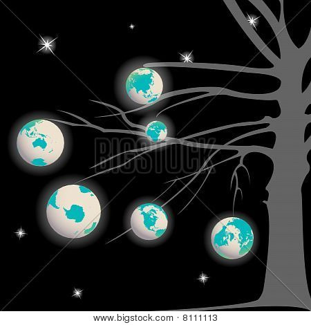 Earth Globe Tree