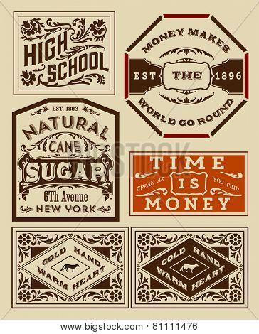 Old advertisement designs - Vintage illustration