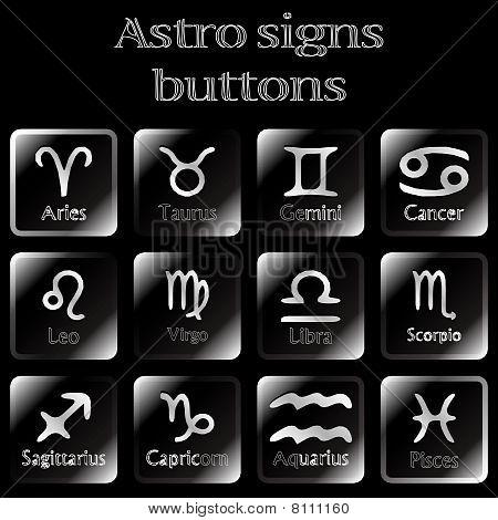 Dark Astro Sign Buttons