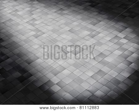tile floor with lightening effect