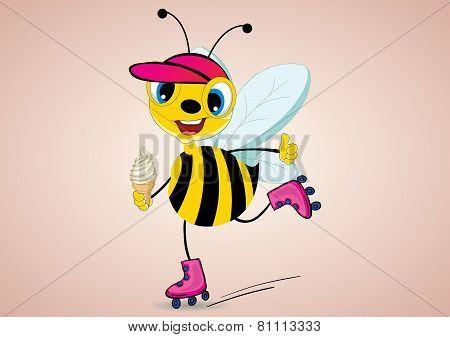 Rollerskater Bee
