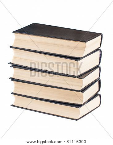 Stack Of Black Cover Books