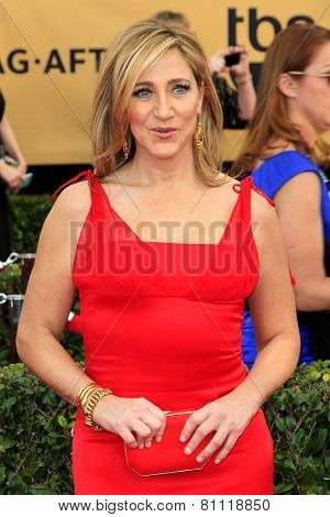 LOS ANGELES - JAN 25:  Edie Falco at the 2015 Screen Actor Guild Awards at the Shrine Auditorium on January 25, 2015 in Los Angeles, CA