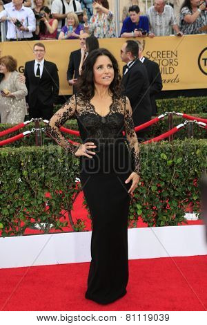 LOS ANGELES - JAN 25:  Julia Louis-Dreyfus at the 2015 Screen Actor Guild Awards at the Shrine Auditorium on January 25, 2015 in Los Angeles, CA