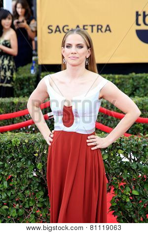 LOS ANGELES - JAN 25:  Anna Chlumsky at the 2015 Screen Actor Guild Awards at the Shrine Auditorium on January 25, 2015 in Los Angeles, CA