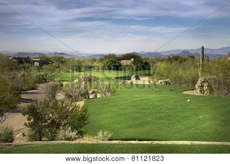 Golf course fairway, Scottsdale,Arizona,USA