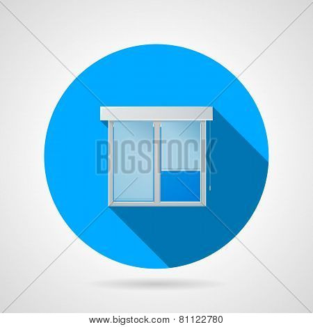 Flat vector icon for window