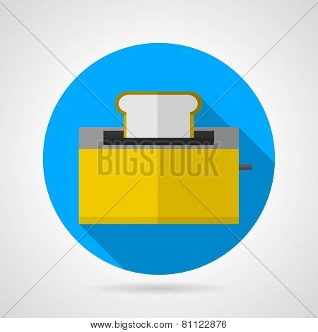 Flat vector icon for yellow toaster