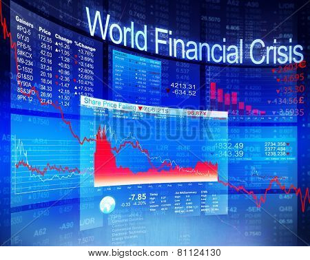 World Financial Crisis Economic Stock Market Banking Concept