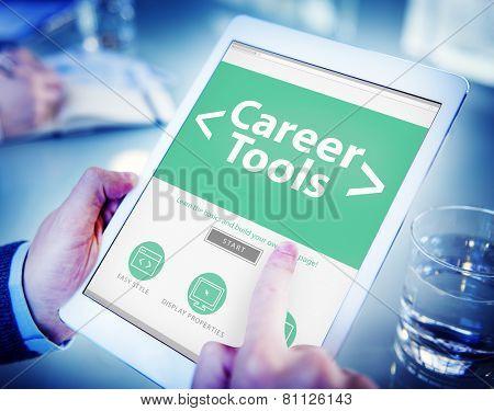 Digital Online Career Tools Employment Working Concept