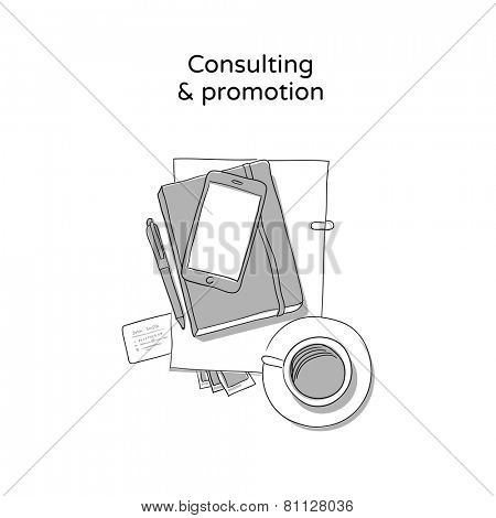 Consulting - hand drawn icon