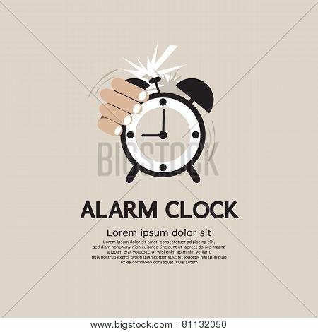 Hand Stop Alarm Clock.