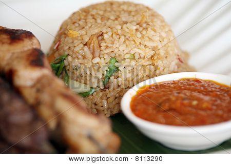 fried rice asian food