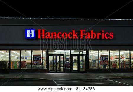 Hancock Fabrics Retail Store Exterior